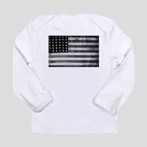 American Vintage Flag Black an Long Sleeve T-Shirt