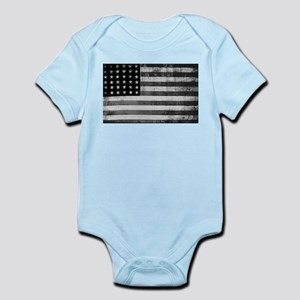 American Vintage Flag Black and White ho Body Suit