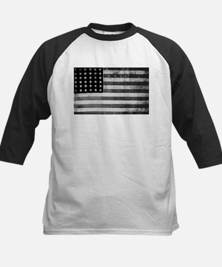 American Vintage Flag Black and Wh Baseball Jersey