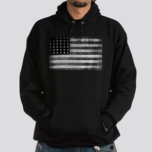 American Vintage Flag Black and Whit Hoodie (dark)
