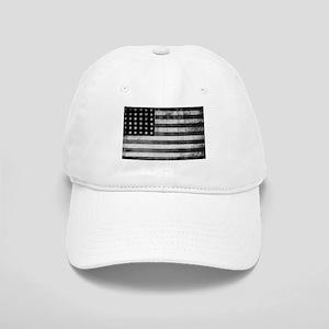 American Vintage Flag Black and White horizont Cap