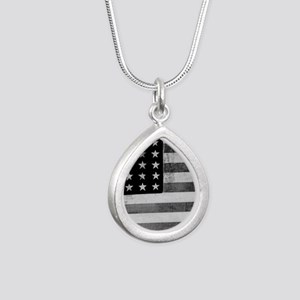 American Vintage Flag Black and White ho Necklaces