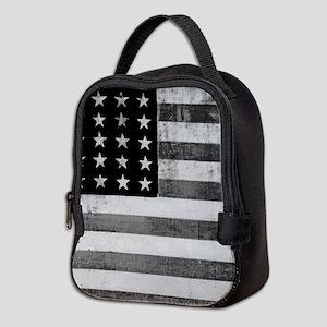 American Vintage Flag Black and Neoprene Lunch Bag