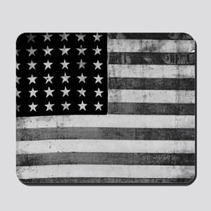 American Vintage Flag Black and White ho Mousepad