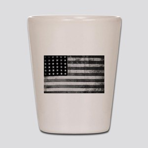 American Vintage Flag Black and White h Shot Glass