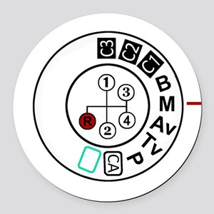 Go Manual Round Car Magnet