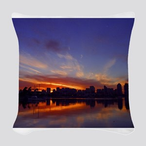 San Diego gifts and t-shirts Woven Throw Pillow