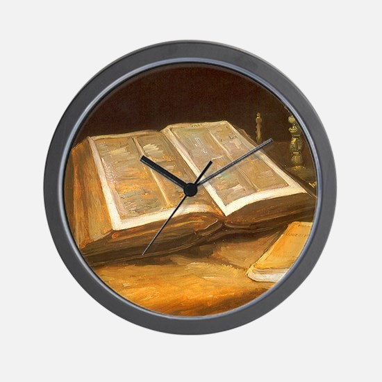 Van Gogh Still Life with Bible Wall Clock
