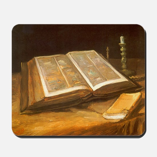 Van Gogh Still Life with Bible Mousepad