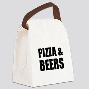 Pizza And Beers Canvas Lunch Bag