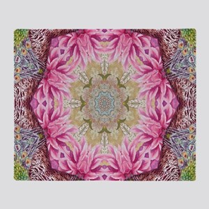 zen pink lotus flower hipster Throw Blanket