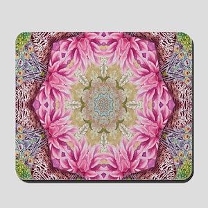 zen pink lotus flower hipster Mousepad