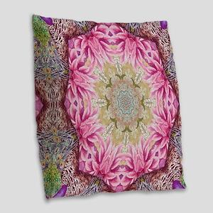zen pink lotus flower hipster Burlap Throw Pillow