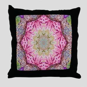 zen pink lotus flower hipster Throw Pillow