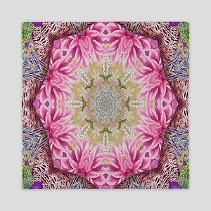 zen pink lotus flower hipster Queen Duvet