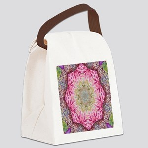zen pink lotus flower hipster Canvas Lunch Bag