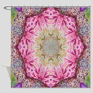 zen pink lotus flower hipster Shower Curtain