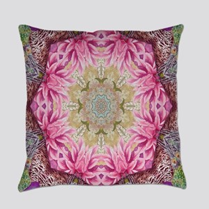 zen pink lotus flower hipster Everyday Pillow