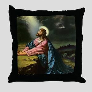 Vintage Jesus Christ Throw Pillow