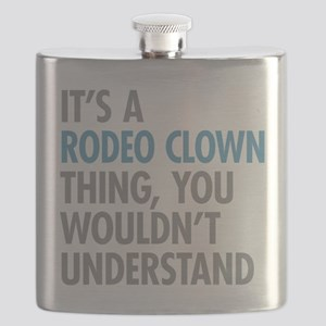 Rodeo Clown Thing Flask
