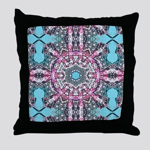 cute girly pink turquoise cowgirl Throw Pillow