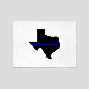Thin Blue Line (Texas) 5'x7'Area Rug
