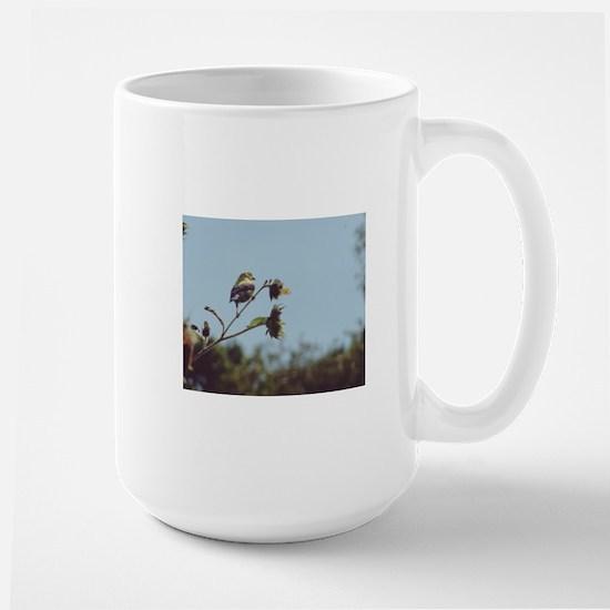 Goldfinch and Sunflower Large Mug