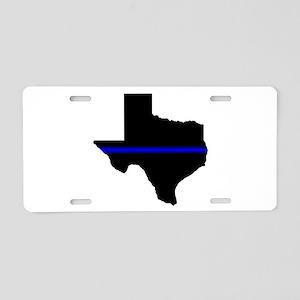 Thin Blue Line (Texas) Aluminum License Plate