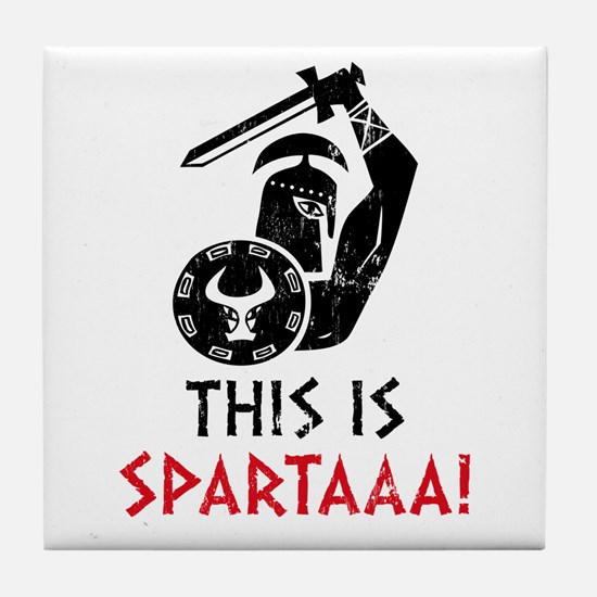 This is Sparta! Tile Coaster