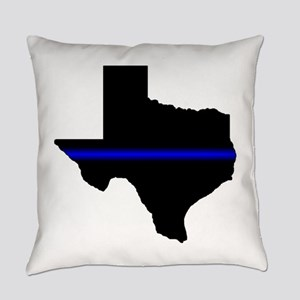 Thin Blue Line (Texas) Everyday Pillow