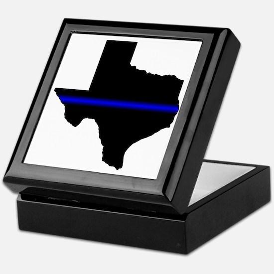 Thin Blue Line (Texas) Keepsake Box