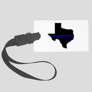 Thin Blue Line (Texas) Luggage Tag