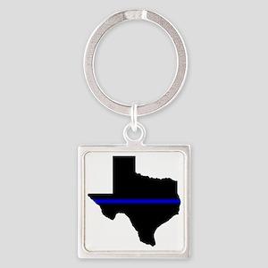 Thin Blue Line (Texas) Keychains