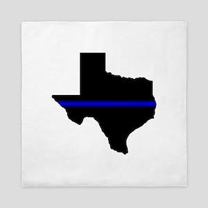 Thin Blue Line (Texas) Queen Duvet