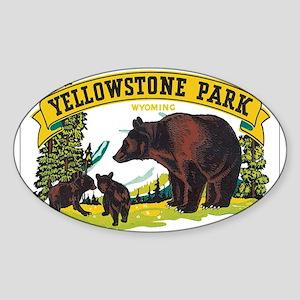 Yogi Bear. Sticker (Oval)