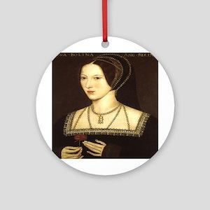 Anne Boleyn Round Ornament