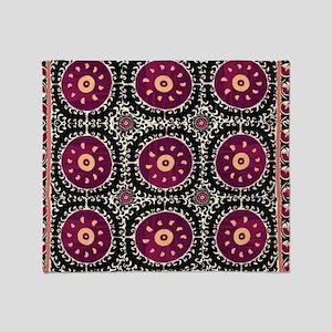 Bohemian Suzani Throw Blanket
