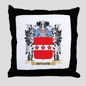 Roscoe Coat of Arms - Family Crest Throw Pillow