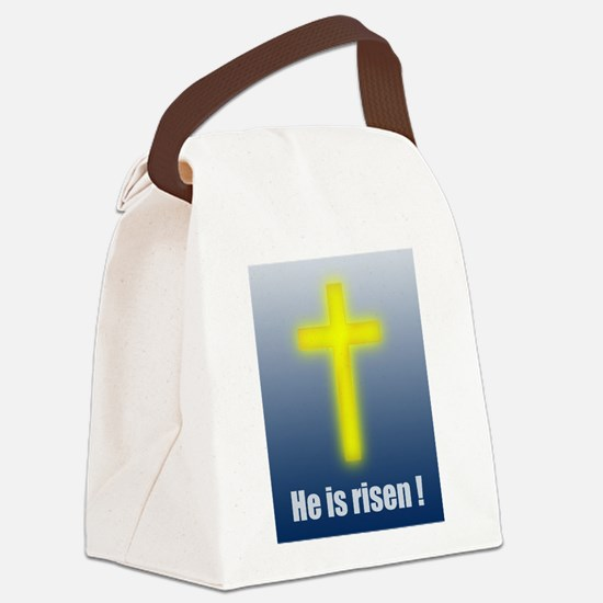 He is risen! Canvas Lunch Bag