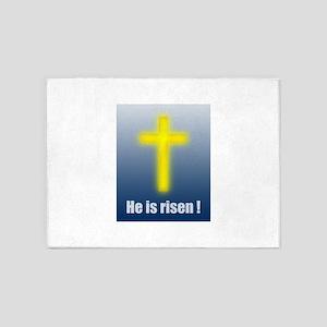 He is risen! 5'x7'Area Rug