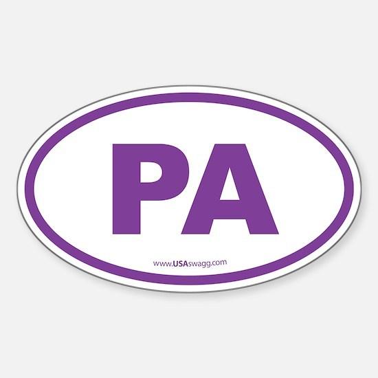 Pennsylvania PA Euro Oval Sticker (Oval)