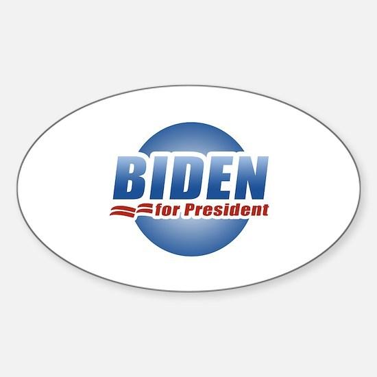 Biden for President Oval Decal