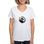 Chello Womens V Neck T-Shirt