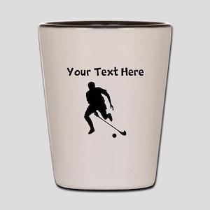 Field Hockey Player Silhouette Shot Glass