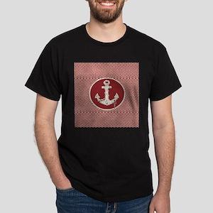 red chevron nautical anchor T-Shirt