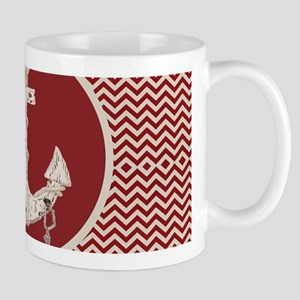 red chevron nautical anchor Mugs