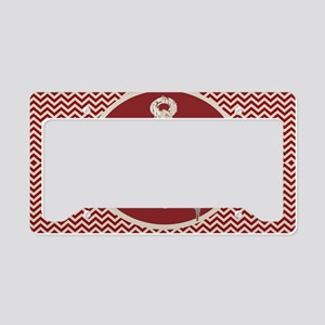 red chevron nautical anchor License Plate Holder