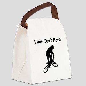 BMX Biker Silhouette Canvas Lunch Bag