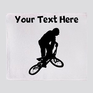 BMX Biker Silhouette Throw Blanket