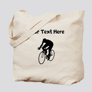 Cyclist Silhouette Tote Bag
